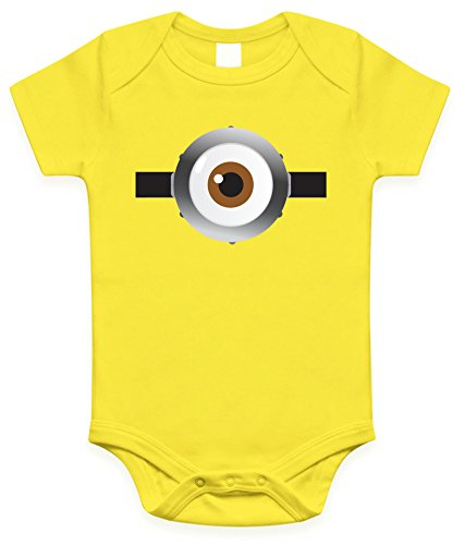 Minion Eyes Infant Baby Onesies / Bodysuit (0-6 Months, Yellow one eye) (Kids Minion Suit)