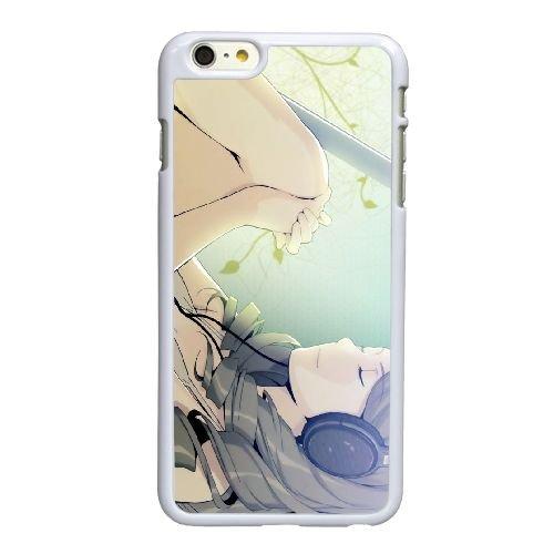 I4W55 fille écoutant la musique manga Z3B9TC coque iPhone 6 Plus de 5,5 pouces de cas de couverture de téléphone portable coque blanche KK8LLD7VG