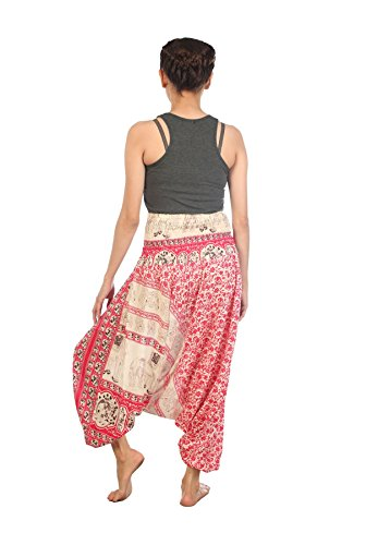Tuta Hippie Donna Harem Boemo Rosa Lofbaz 1 Pantaloni Yoga Elephant OqAwRIT5