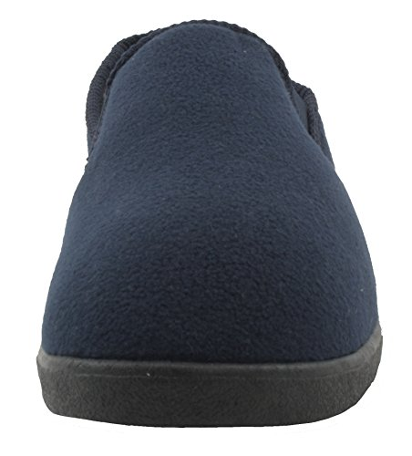 SlumberzzZ Diseño de zapato de parte trasera completa para hombre forro polar con forro Azul