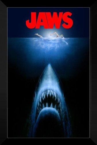 Jaws FRAMED 27x40 Movie Poster: Roy Scheider by ArtDirect