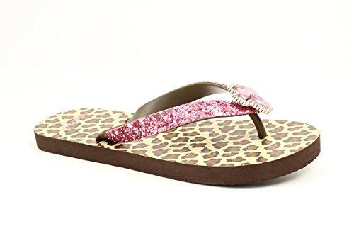 Blazin Roxx Dames Maddie Sneeuw Luipaard Slippers Cheetah