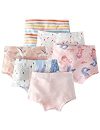 Happy Cherry Toddler Girls Cotton Boxer Brief Breathable Underwear Panties Soft Underpants 6 PCS