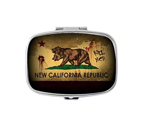 Fallout New Vegas Custom Diy Image Personalized pill box Stainless Steel Medicine Tablet Holder Decorative Metal (Fallout Diy)