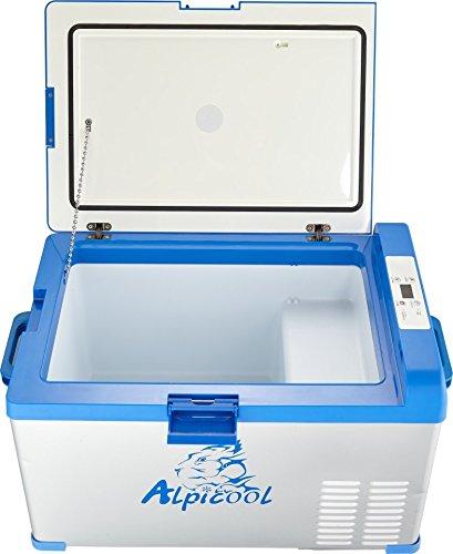 Alpicool-A30-Portable-Refrigerator-32-Quart30-Liter-Vehicle-Car-Turck-RV-Boat-Mini-Fridge-Freezer-Travel-Outdoor-Home-use-1224V-DC-110-240-ACBlue-Silver