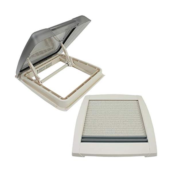 MPK VisionStar M pro getönte Klarglas Dachluke Dachfenster Dachhaube 40 x 40 cm in perlweiß