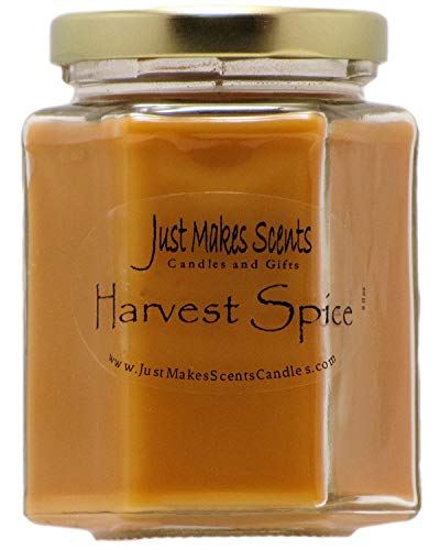 Harvest Spice Scented Blended Soy Candle | Fall Fragrance Candles | Hand Poured in the USA by Just Makes Scents