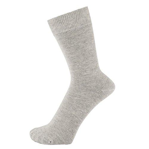 ZAKIRA Finest Combed Cotton Dress Socks in Plain Vivid Colours for Men, Women (Light Grey Melange, US 7-12)