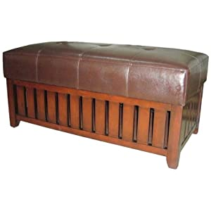 ORE International HB4152 Storage Bench, Finished Wood