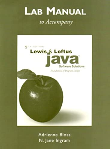 lab manual for java software solutions foundations of program rh amazon com Imported Brewers Yeast Lewis Labs Lewis Labs International