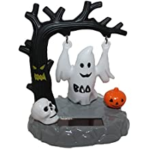 "Navillus SolarHalloween Collection 4"" Swinging Ghost, Haunted tree, skull and pumpkin"