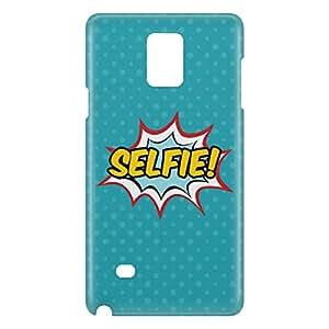 Loud Universe Samsung Galaxy Note 4 3D Wrap Around Selfie Print Cover - Blue