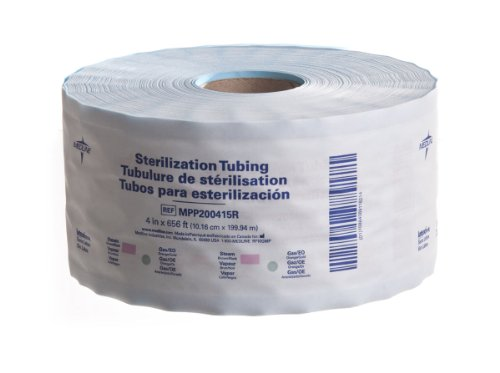 Medline MPP200415R Instrument Sterilization Tubing/Roll, 4″ x 656′