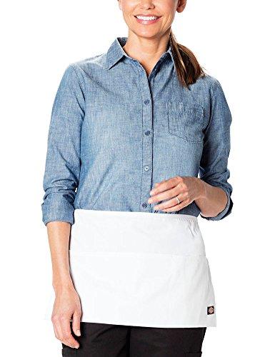 (Dickies Chef Men's Bistro Waist Apron, White Server, One Size)