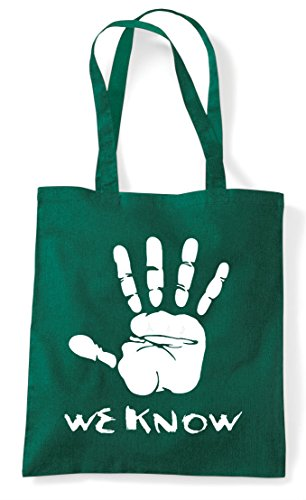 Shopper Dark Hand Plain Know Bag Tote Gaming Cult We Gamer Green Statement 1UHxw