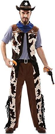 Disfraz de Vaquero con estampado vaca para hombre: Amazon.es ...