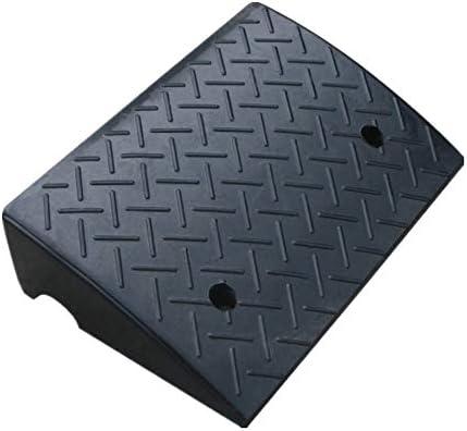 ゴム製段差プレート ストリート専用パッドステップパッド沿ってスロープスロープパッド沿って14cmのゴム道路 産業用ゴム縁石ランプ (色 : Black, Size : 50x32x14cm)