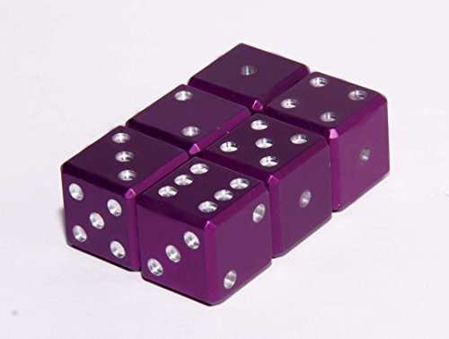 METAL D6 DICE, 6 OFFICIAL GRAVITY DICE WITH CARRY BAG (Purple) by Gravity Dice