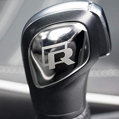 Stainless Steel bright silver Car Styling Gear Shift Knob Gear Head Cover for VW Golf Jetta Passat Tiguan Atlas Beetle GLI Eos CC Golf TDI E-Golf Golf Sportwagen Jetta Hybrid Golf R GTI MK6 MK7: Automotive