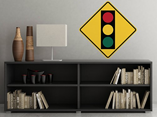Traffic Light Sign Fabric Wall Decal - Traffic and Street Signs - Small - 3 Sizes Available - Non-Toxic, Reusable, Repositionable ()