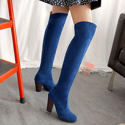 Blu Stivali Aiyoumei Aiyoumei Classici Blu Donna Classici Donna Stivali tfqwPx86