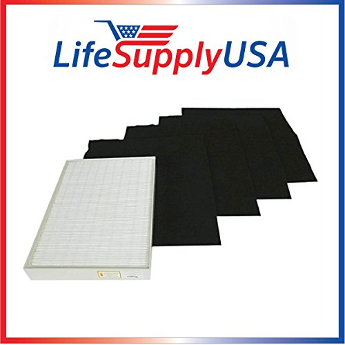 COMPLETE SET True HEPA Replacement Filter PLASTIC FRAME for Kenmore 83154, 83353, 83374, 83234, 1183051 Sears Kenmore Air Cleaner Inlcudes 4 pre Filters. Designed & Engineered By Vacuum Savings