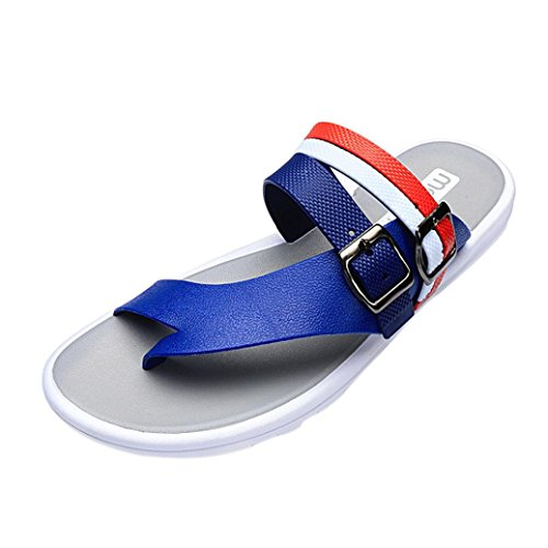 Pantofole Traspirante da Spiaggia Infradito da SOMESUN Casual Piatte Massaggio Leggero Pantofole Casa Morbido Estate Blu Infradito Sandali Sandali Uomo Scarpe OE5x5q8w4