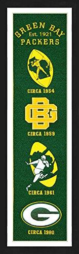 Winning Streak Green Bay Packers Framed Heritage Banner 13x36 ()