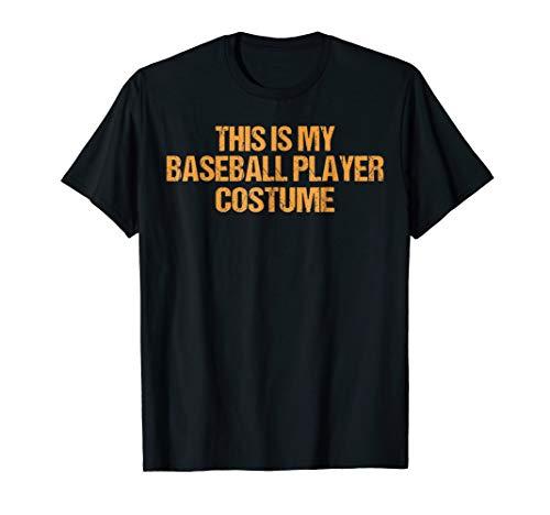 Baseball Player Halloween Shirt Easy Last Minute Costume for $<!--$16.95-->
