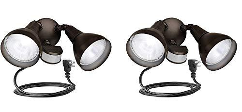 Brinks 7166BZ-1 LGT Flood 240 Motion Sensor Bronze with Cord Light (Pack of 2)