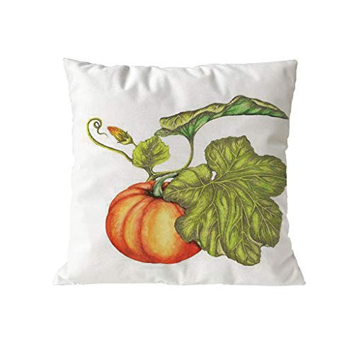 Kacowpper Pillow Clearance!!! Happy Halloween Pillow Cases Polyester Sofa Cushion Cover Square Pumpkin Maple Leaf Wreath Happy Fall Vintage Letters Happy Thanksgiving(18