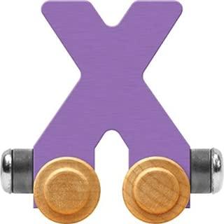 product image for Maple Landmark NameTrain Pastel Letter Car X - Made in USA (Lavender)