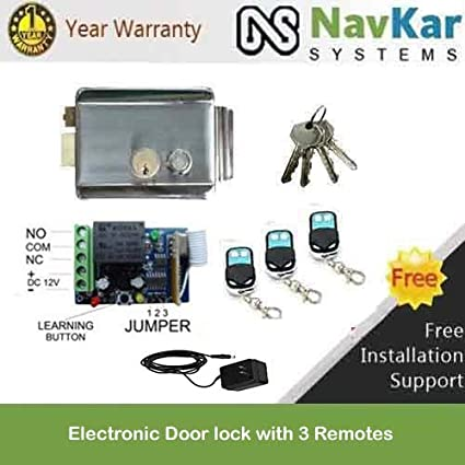 Navkar Electronic Door Lock For House Main Metal Door, Gate, To Operate By Remote