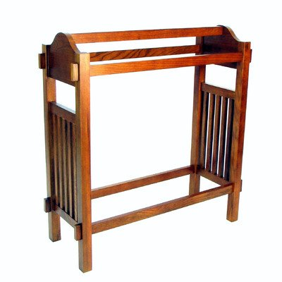 Quilt Stand Rack with 3 Towel/Quilt Bars Traditional in a Pine Finish Style 36'' H x 32'' W x 12.5'' D in. by Darby Home Co
