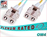 FiberCablesDirect - 7M OM4 LC LC Fiber Patch Cable