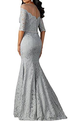 Himmel La Spitze Abendkleider Silber Blau Damen Langarm Etuikleider Braut Ballkleider Festlichkleider Marie mit qwxCPqrH