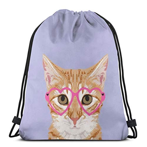 Used, Orange Tabby Cute Hipster Glasses Kitten Lavender Pastel for sale  Delivered anywhere in Canada