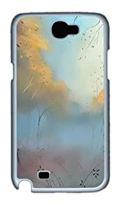 Simple Painting Custom Designer Samsung Galaxy Note 2/Note II / N7100 Case Cover - Polycarbonate - White