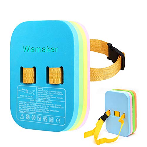 Wemaker Swimming Back Float, Safety Swim Bubble with Adjustable 4 Layers Swim Belts Comfortable Waterproof Floaties Device for Kids Toddler Swimming Floats - 4 Color Split Float