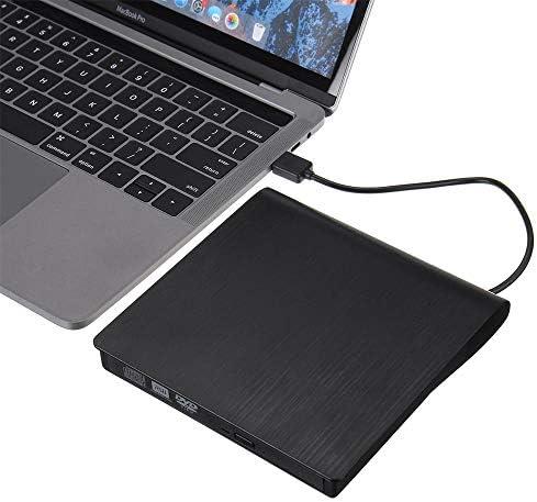 DVDドライブ 外付けDVD RW CDライタードライブタイプCのUSB 3.0光学ドライブスリムコンボドライブバーナーリーダープレーヤーのためにPC CDドライブ (Color : Black, Size : One size)