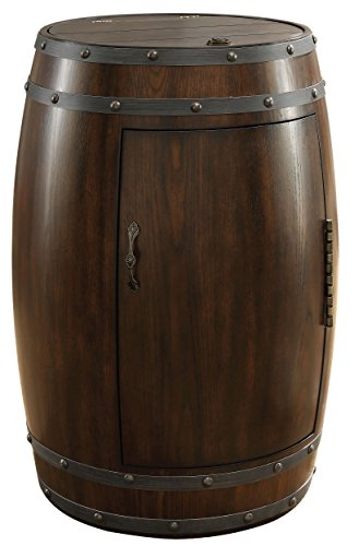 Barrel Cooler Wine (Homelegance Chardonnay Wine Cooler Barrel with Temperature Control, Dark Cherry)