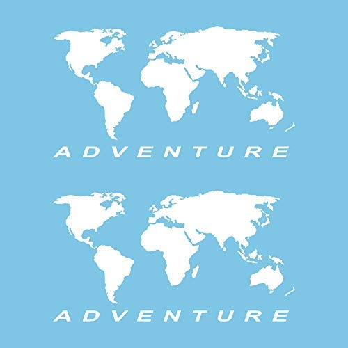 Autodomy Pegatinas Mapa Mundo Globo Terráqueo Adventure Maletas Moto Cofre Trail Off Road Todoterreno 4x4 Sport Pack 2 Unidades para Coche o Moto (Blanco): Amazon.es: Coche y moto