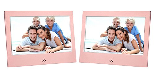 ? 7'' Digital Photo Frame ? Screen 800×480 High Resolution Aluminum alloy Support MP3 MP4 Video Player Clock and Calendar Function with Remote Control? , Rose gold