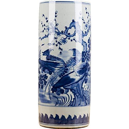 - Blue And White Cylinder Umbrella Stand