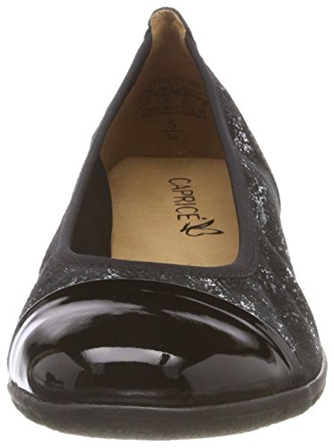 Leo Caprice Comb Black Ballet Women's Flats 22102 80 Black HBRBYSwCq