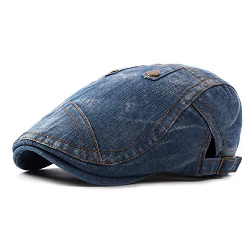 de la a Hombres GLLH la Sombrero Sombreros Lavado qin A de los Moda Delantero hat los de Sombrero C Sombrero Sombrero Boina Mezclilla de de Hombres béisbol qrz7nqBH