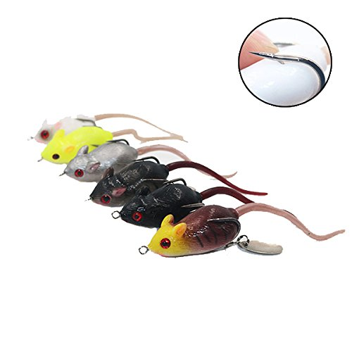 - Fishing Lures - 6cm Simulation Fishing Lure Mouse Artificial Fishing Bait Wih Hook - Enticement Creep Steal Come-On Entice Pussyfoot Sweetener - 1PCs