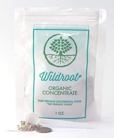 Wildroot Organic Mycorrhizal Fungi Concentrate (16 Species) Endo & Ecto Mycorrhizae Inoculant Powder for Explosive Plant Root Growth -1 Scoop (About 1/4 TSP.) Makes 1 Gal (Powder, 1 oz.) (Best Time To Harvest Cowpeas)