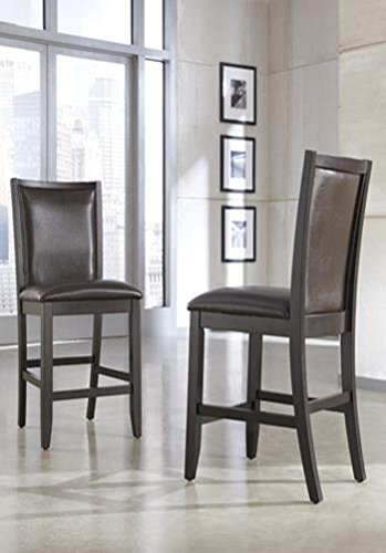 Signature Design By Ashley Trishelle Upholstered Barstool  Brown  Set Of 2