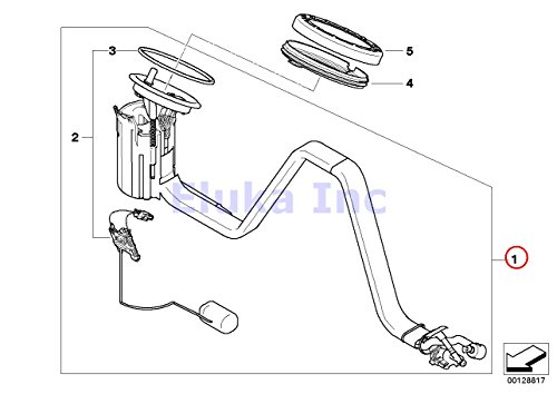 BMW Genuine Fuel Pump With Seal - In-Tank Suction Device Right M5 M6 M6 (Tank Fuel Suction Device)
